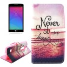 For LG Leon DREAMING Pattern Leather Case with Holder, Card Slots & Wallet
