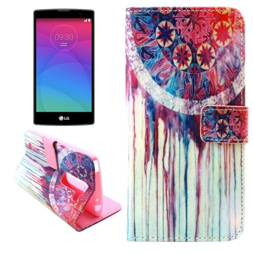 For LG Magna Dreamcatcher Pattern Leather Case with Holder, Card Slots & Wallet