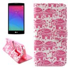 For LG Magna Elephants Pattern Leather Case with Holder, Card Slots & Wallet
