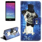 For LG Spirit Dog Pattern Leather Case with Holder, Card Slots & Wallet