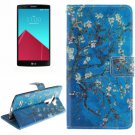 For LG G4 Plum 2 Side Pattern Leather Case with Holder, Card Slots & Wallet