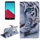 For LG G4 Tiger 2 Side Pattern Leather Case with Holder, Card Slots & Wallet