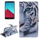 For LG G4 Tiger 2 Side Pattern Leather Case with Holder, Card Slots & Wallet