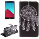 For LG G4 WindBell 2 Side Pattern Leather Case with Holder, Card Slots & Wallet