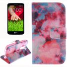 For LG G2 mini Clouds 2 Side Pattern Leather Case with Holder, Card Slots & Wallet