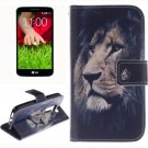 For LG G2 mini Lion 2 Side Pattern Leather Case with Holder, Card Slots & Wallet