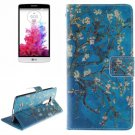 For LG G3 mini Plum 2 Side Pattern Leather Case with Holder, Card Slots & Wallet