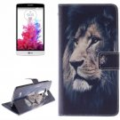 For LG G3 mini Lion 2 Side Pattern Leather Case with Holder, Card Slots & Wallet