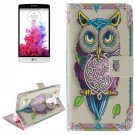 For LG G3 mini Owl 2 Side Pattern Leather Case with Holder, Card Slots & Wallet