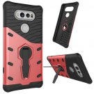 For LG V20 Red Rotating Tough Armor TPU + PC Combination Case & Holder