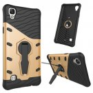 For LG X Style Gold Rotating Tough Armor TPU + PC Combination Case & Holder