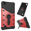 For LG X Power Red Rotating Tough Armor TPU + PC Combination Case & Holder