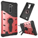 For LG K7 Red Rotating Tough Armor TPU + PC Combination Case & Holder