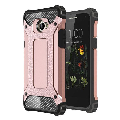 For LG K5 Rose Gold Tough Armor TPU + PC Combination Case