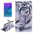 For Galaxy Note 4 Tiger Pattern Leather Case with Holder, Card Slot & Wallet