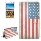 For Galaxy Note 4 US Flag Pattern Flip Leather Case with Holder & Card Slots