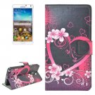For Galaxy Note 4 Heart Pattern Flip Leather Case with Holder & Card Slots