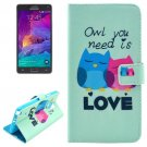 For Galaxy Note 4 Love Magnetic Case with Holder, Wallet & Card Slots