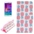 For Galaxy Note 4 Cross Pineapple Leather Case with Holder, Card Slots & Wallet