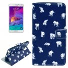 For Galaxy Note 4 Cross Elephant Leather Case with Holder, Card Slots & Wallet