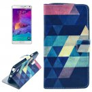 For Galaxy Note 4 Cross Triangle Leather Case with Holder, Card Slots & Wallet