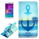 For Galaxy Note 4 Cross Anchor Leather Case with Holder, Card Slots & Wallet