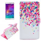 For Galaxy Note 4 Cross Spot Leather Case with Holder, Card Slots & Wallet