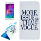 For Galaxy Note 4 Cross Vogue Leather Case with Holder, Card Slots & Wallet