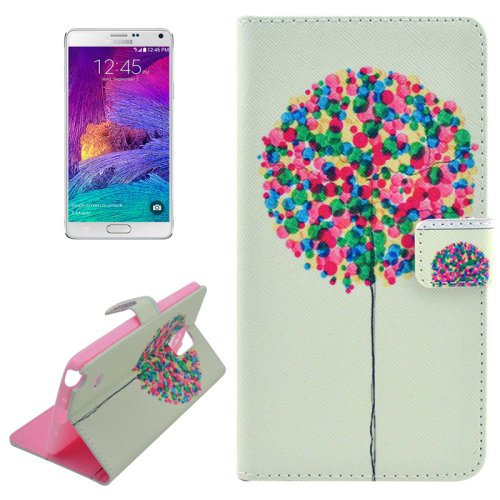 For Galaxy Note 4 Cross Balloons Leather Case with Holder, Card Slots & Wallet