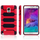 For Galaxy Note 4 Red Tank Series PC + TPU Bumper Combination Case