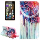 For Lumia 535 Dreamcatcher Pattern Leather Case with Holder, Card Slots & Wallet