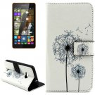 For Lumia 535 Dandelion Pattern Leather Case with Holder, Card Slots & Wallet
