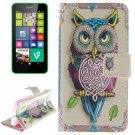For Lumia 630 Owl Pattern Leather Case with Holder, Card Slots & Wallet