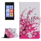 For Lumia 720 Blossom Pattern Leather Case with Holder, Card Slots & Wallet