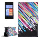 For Lumia 720 Stars Pattern Leather Case with Holder, Card Slots & Wallet