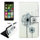 For Lumia 830 Dandelions Pattern Cross Leather Case with Holder & Card Slots