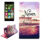 For Lumia 830 Dreaming Pattern Cross Leather Case with Holder & Card Slots