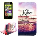 For Lumia 630 Sea Pattern Cross Leather Case with Holder & Card Slots