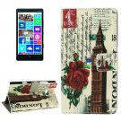 For Lumia 930 Big Ben Pattern Leather Case with Holder, Card Slots & Wallet