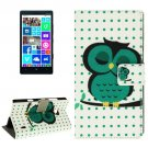 For Lumia 930 Owl Pattern Leather Case with Holder, Card Slots & Wallet