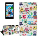 For Lumia 830 Owl Lines Pattern Leather Case with Holder, Card Slots & Wallet