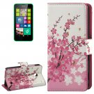 For Lumia 630 Blossom Pattern Flip Leather Case with Holder & Card Slots