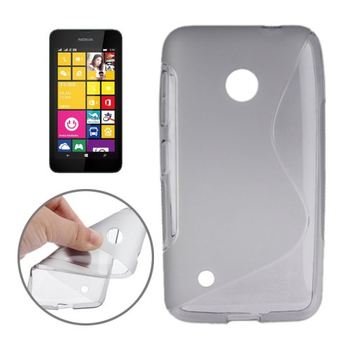 For Lumia 530 Grey S Line Anti-slip Frosted TPU Protective Case