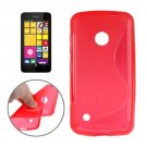 For Lumia 530 Red S Line Anti-slip Frosted TPU Protective Case
