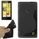 For Lumia 520 Black S Line Anti-skid TPU Protection Case