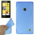 For Lumia 520 Blue S Line Anti-skid TPU Protection Case