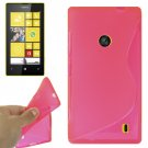 For Lumia 520 Magenta S Line Anti-skid TPU Protection Case
