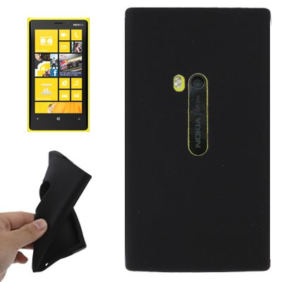 For Lumia 920 Black Pure Colour Silicone Case
