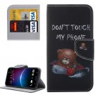 For HTC M10 Bear Pattern Leather Case with Holder, Card Slots & Wallet
