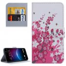 For HTC M10 Blossom Pattern Leather Case with Holder, Card Slots & Wallet